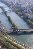 Mening van Parijs van de Toren van Eiffel Stock Foto's