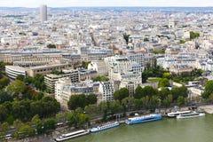 Mening van Parijs van de Toren van Eiffel Royalty-vrije Stock Afbeelding
