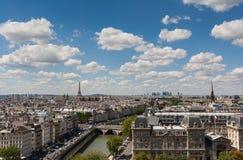 Mening van Parijs van Notre Dame Stock Afbeelding