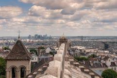 Mening van Parijs van Sacre Coeur Royalty-vrije Stock Foto's