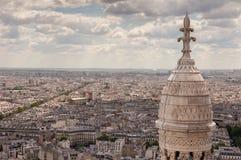 Mening van Parijs van Sacre Coeur Royalty-vrije Stock Afbeeldingen