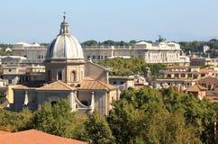 Mening van Heuvels Janiculum in Archbasilica, Rome Royalty-vrije Stock Foto's