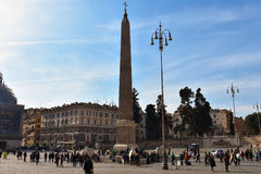 Mening van Piazza del Popolo Royalty-vrije Stock Fotografie