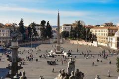 Mening van Piazza del Popolo Royalty-vrije Stock Foto