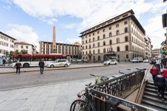 Mening van Piazza dell UNITA Italiana in Florence Stock Afbeelding
