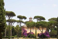 Mening van Piazza Di Siene bij Borghese-tuin Royalty-vrije Stock Foto's
