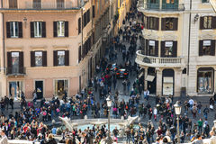 Mening van piazza Di spagna Stock Afbeelding
