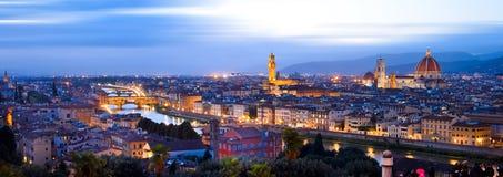 Mening van Piazzale Michelangelo in Florence stock fotografie