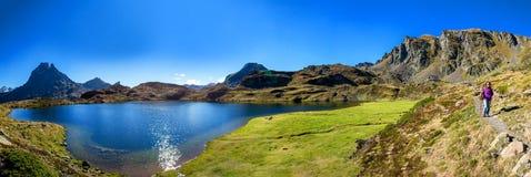Mening van Pic du Midi Ossau, Frankrijk, de Pyreneeën royalty-vrije stock foto's