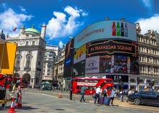 Mening van Piccadilly-Circus in Londen Stock Afbeelding