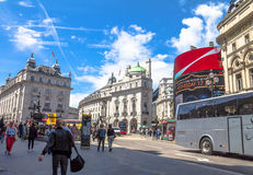 Mening van Piccadilly-Circus in Londen Royalty-vrije Stock Foto