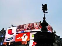 Mening van Piccadilly-Circus in Londen, het UK Royalty-vrije Stock Foto