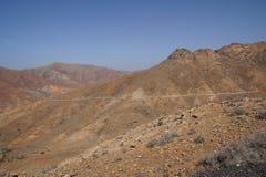 Mening van Pico de la Muda in Fuerteventura Stock Foto's