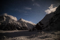 Mening van piek khan-Tengri in de nacht royalty-vrije stock foto
