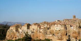 Mening van Pitigliano, Toscanië, Italië Royalty-vrije Stock Afbeelding
