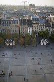 Mening van Plaats Georges Pompidou stock fotografie