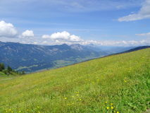 Mening van Planai, Schladming, Oostenrijk Royalty-vrije Stock Foto