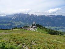 Mening van Planai, Schladming, Oostenrijk Stock Fotografie