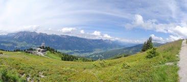Mening van Planai, Schladming, Oostenrijk Royalty-vrije Stock Fotografie