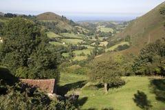 Mening van Platteland, Nueva, Austurias Royalty-vrije Stock Foto's