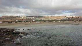 Mening van Playa-Blanca in Fuerteventura, Canarias stock afbeelding