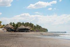 Mening van Playa Gr Tunco, het surferparadijs in El Salvador Stock Foto's