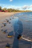 Mening van Ponta Verde royalty-vrije stock foto's