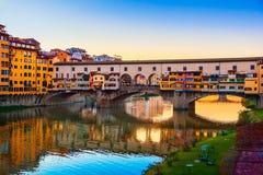 Mening van Ponte Vecchio Florence royalty-vrije stock afbeeldingen