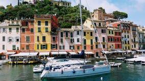 Mening van Portofino-Baai royalty-vrije stock afbeelding
