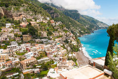 Mening van Positano Royalty-vrije Stock Foto's
