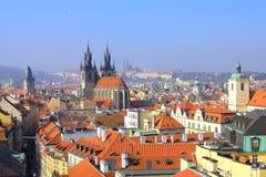 Mening van Praag Stock Fotografie