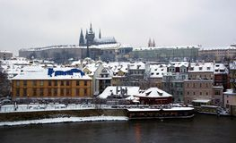 Praag in de winter Stock Afbeelding