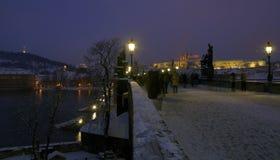 Praag in de winter Royalty-vrije Stock Afbeeldingen