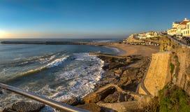 Mening van Praia-Dos Pescadores Ericeira Royalty-vrije Stock Fotografie