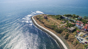Mening van Primorsko-toevluchtstad van hierboven Royalty-vrije Stock Foto's