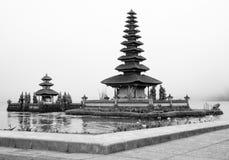 Mening van Pura Ulun Danu Bratan, Indonesië Royalty-vrije Stock Afbeelding