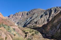 Mening van Quebrada DE La Humahuaca in Iruya, Argentinië Royalty-vrije Stock Afbeeldingen
