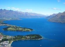 Mening van Queensstad, Nieuw Zeeland Stock Afbeelding