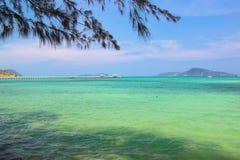 Mening van RaWai-strand, PhuKet, Thailand stock afbeeldingen
