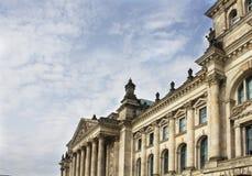 Mening van Reichstag-de bouw Royalty-vrije Stock Foto's