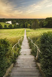Mening van Richmond Hill in Londen over landschap tijdens beautifu Stock Foto