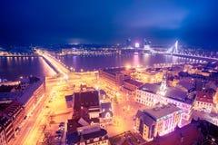 Mening van Riga stock afbeeldingen