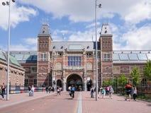 Mening van Rijksmuseum, Amsterdam Stock Afbeelding