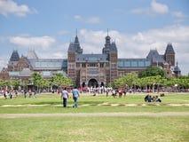 Mening van Rijksmuseum, Amsterdam Stock Foto