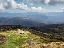 Mening van Rila-berg, Bulgarije stock fotografie