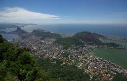 Mening van Rio de Janeiro van Corcovado Royalty-vrije Stock Fotografie