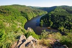 Mening van rivier Stock Foto
