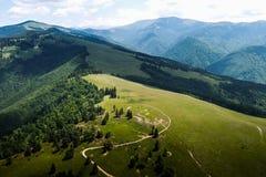 Mening van Roemeense bergen Royalty-vrije Stock Foto's