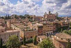 Mening van Roman Forum Stock Afbeelding
