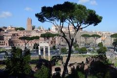 Mening van Rome stock afbeeldingen